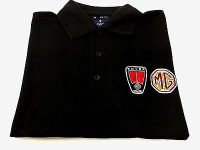 Mg / Rover Black Polo Shirt / T Shirt New! Size Large