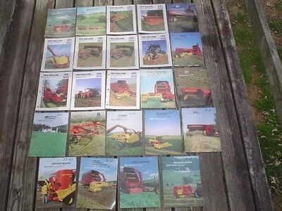 (24) 1980's NEW HOLLAND FARM EQUIPMENT CATALOGS / BROCHURES