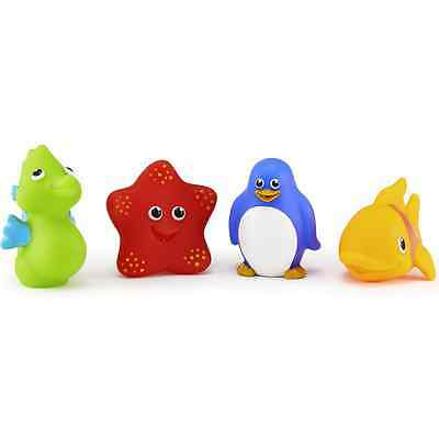 Munchkin Ocean Squirt - Float Bath Toys 4 ea (Pack of 6)