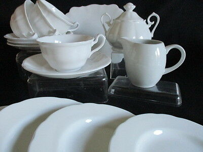 Vintage white china tea set for 4.....15 pieces in lovely condition