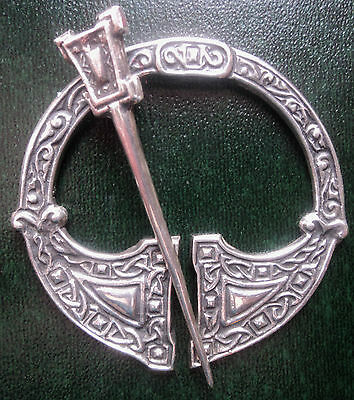 Vintage Silver Scottish Celtic Iona AR Brooch - Alexander Ritchie 1938