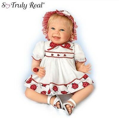"""Bonnie Chyle So Truly Real """"Tiny Tickles"""" Realistic Lifelike Baby Doll by Ashton"""