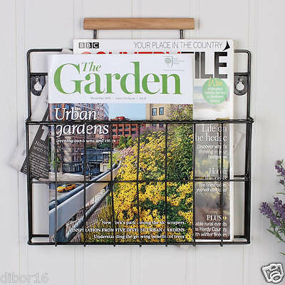 Country Style Wall Mounted Magazine Rack Organiser and Store by Dibor