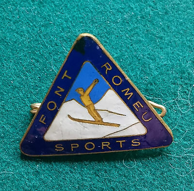 Font Romeu Sports France ski badge