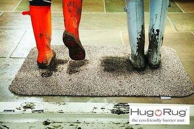 Hug Rug Absorbent Dirt Trapper Door / Floor Mat Non Slip Washable 50 cm x 75 cm