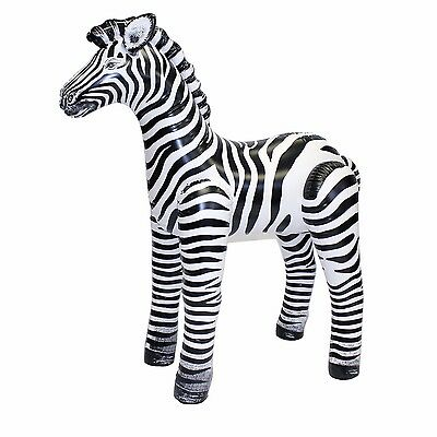 56'' Tall Zebra zoo party plus a mystery gift FUN  FREE SHIPING Sold As Is