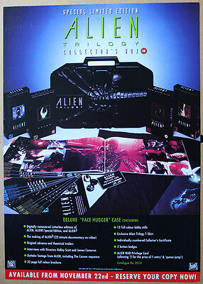 Rare Original Aliens Special Edition Trilogy Case Video in-store Promo Poster