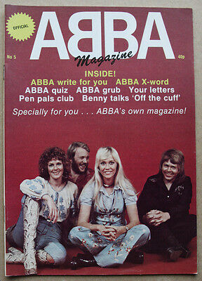 Nice Original Vintage ABBA UK Official Magazine Issue 5 NM