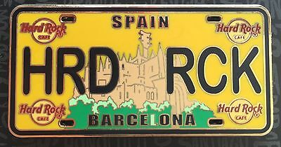 Hard Rock Cafe Barcelona License Plate CORE Pin NEW