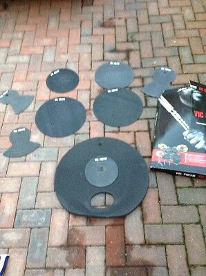 "Free P&P. Vic Firth Silencer Pads, Mats, Mutes for Drum Kit. 22"" Fusion Sizes."