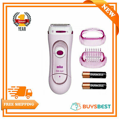 Braun Womens Silk & Soft Ladies Battery Operated Electric LadyShaver LS5100