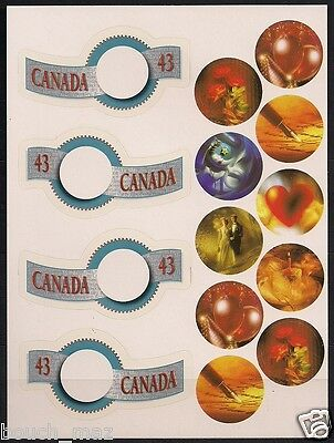 Canada Stamps -Pane of 4 -Greetings Booklet #1507-1508 -MNH