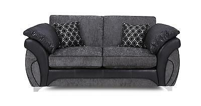 DFS Luna Charcoal Black Fabric Large 2 Seater Deluxe Sofa Bed