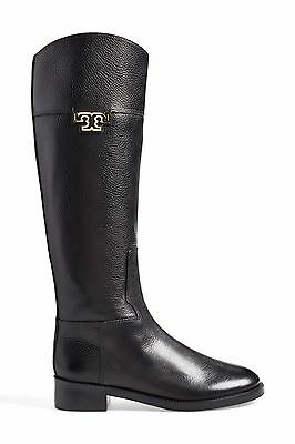 Tory Burch Joanna Leather Riding Boots Black Leather - Retails for $495 Multi Sz
