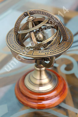 Nautical Brass Engraved Armillary Vintage Antique Style Globe Sphere Armillary