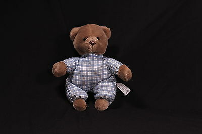 Vintage Eden Brown Teddy Bear Plush Plaid