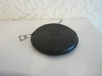 Loewe Black Leather Coin Purse With Key Ring