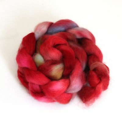 Shunklies Hand Dyed Massam Wool Combed Top 100g Mas8