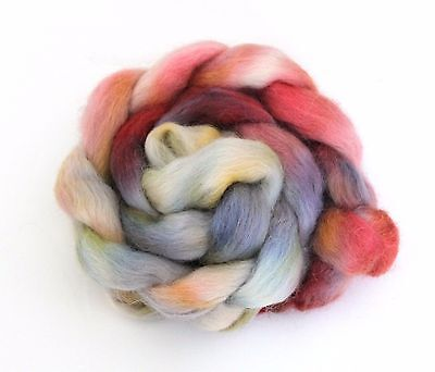 Shunklies Hand Dyed Massam Wool Combed Top 100g Mas7