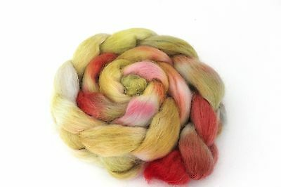 Shunklies Hand Dyed Massam Wool Combed Top 100g Mas4