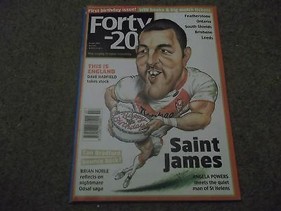 Forty 20 Rugby League Magazine July 2012 Featherstone Ontario Leeds Brisbane Etc