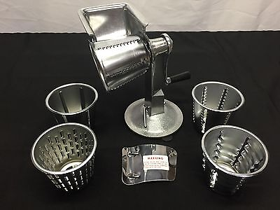 "Vollrath 6005 12""  King Kutter Manual Grater Cutter w/ Suction Cup Base 5 Cones"