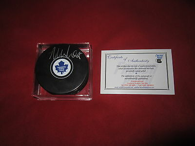 William Nylander Signed Toronto Maple Leafs Puck Coa  Autographed Frozen Pond