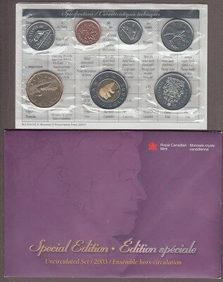 Canada 2003  uncirculated set WP special edition