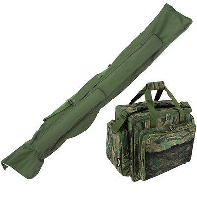 Carp Fishing Rod Holdall & Tackle Bag Carryall Insulated Holdall Camo Ngt