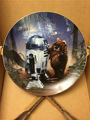 Star Wars Plate Collection - R2-D2 AND WICKET (Hamilton Collection - 1st Series)