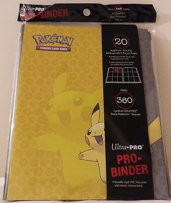 Ultra Pro Pokemon Pikachu A4 9 Pocket Portfolio Binder Folder Album 360 Cards