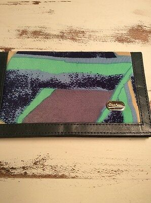 Vintage Christina Women's Wallet Silk and genuine leather BEAUTIFUL