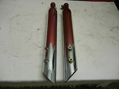 Aftermarket 1999-2012 Touring FLH Chrome Slip-On Mufflers, No Name, Cheap