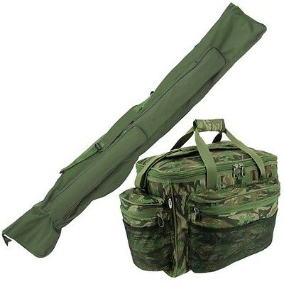 Carp Fishing Rod Holdall & Large Tackle Bag Carryall Holdall CAMO NGT