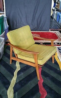 Vintage 1960's Mid Century Danish Modern Lounge Chair Made In Yugoslavia