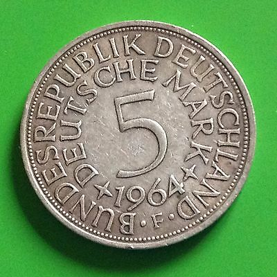 1964-F  Germany Silver 5 Mark Coin