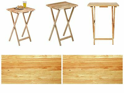 Folding Single Table Wooden Desk Foldable Portable Small Dining Stand Furniture
