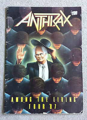 1987 Anthrax Among The Living 1987 Tour Programme Complete Original
