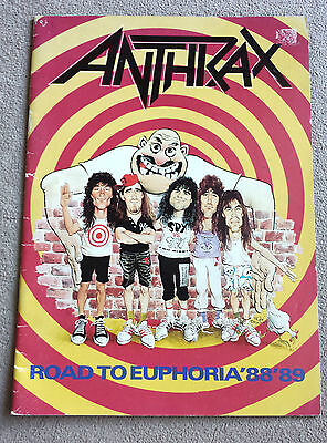 Anthrax - Road To Euphoria '88- '89 - Tour Programme