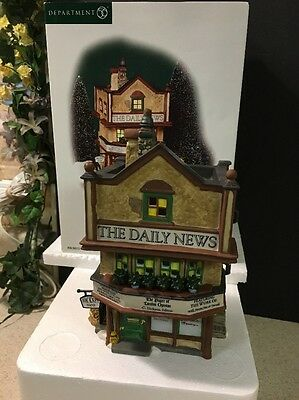 Dept 56 Dickens' Village Series The Daily News 56.58513 58513 Mint In Box