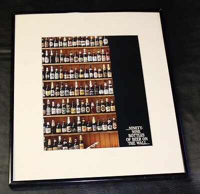 99 bottles of beer on the wall picture sign bar man cave craft