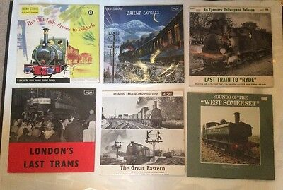STEAM RAILWAY SOUNDTRACK RECORDS. 6x VINYL LPs