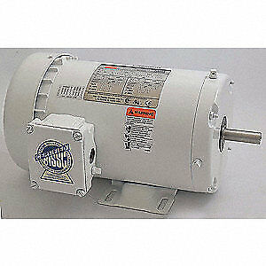 DAYTON Washdown Motor,3 Ph,TEFC,1/2 HP,1725 rpm, 2DAK7