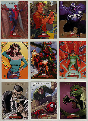 Marvel Masterpieces Skybox Spider-Man chase set #S1-S9 (2007)