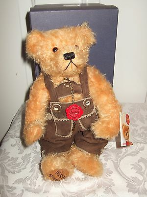 Hermann Bear, Limited Edition, In Org Box. Lederhosen. Signed By Hermann, 59/500