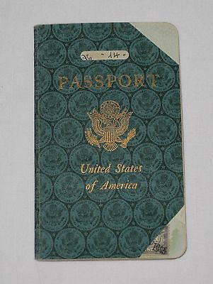 Vintage US Passport issued in Palermo Italy 1945 American Consulate