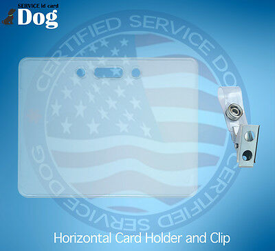 Horizontal Id Card Badge Holder And Clip For Service Dog Id Card Ada