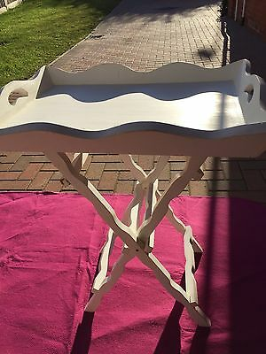 Shabby Chic Wooden Tray with Stand - Great For Xmas Party Drinks Or Canapés