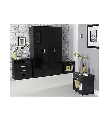 Carleton 4-Piece Bedroom Set With 3 Door Wardrobe in various styles