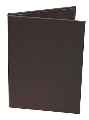 """(10pk) Menu Covers, 2-panel, 5.5"""" x 8.5"""" insert, Brown Faux Leather"""
